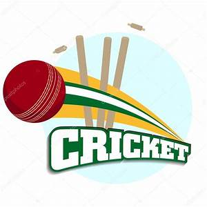 Abstract sports concept with shiny cricket ball on wave ...