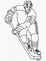 Pages Coloring Sports Colouring Hockey Player Unknown sketch template