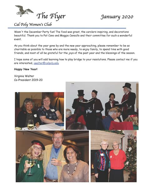 jan newsletter cal poly womens club cal poly