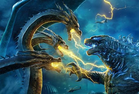 King Ghidorah Vs. Godzilla In New King Of The Monsters Posters