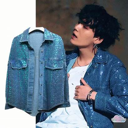 Jacket Yoongi Bts Denim Sequin Jackets Pullovers