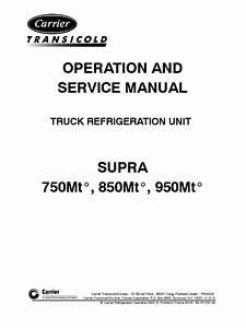 Carrier O  U0026 S Manual Supra 750mt 850mt 950mt Preliminary