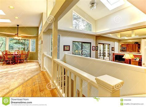 Large Bright Home Interior With Hallway. Stock Image