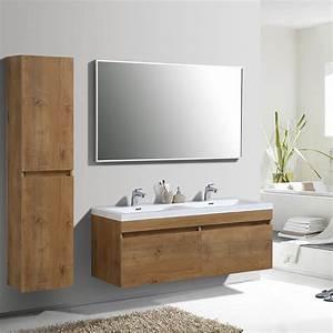 Grand Meuble Salle De Bain : meuble de salle de bain double vasque cubik 144 cm ~ Teatrodelosmanantiales.com Idées de Décoration