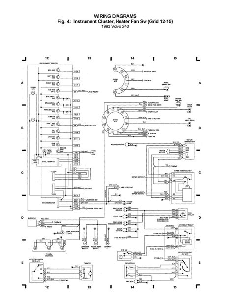 volvo 240 1993 wiring diagrams instrument cluster