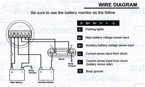 Battery Monitor Volt Digital Amp Meter For Dual