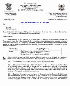 9 sample formal interview letters sample templates With interview call letter template