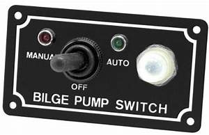 Shoreline Marine Bilge Pump Switch 3 Way Panel