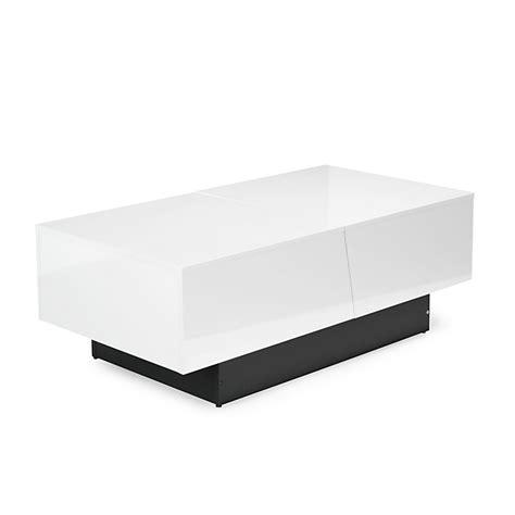 table basse blanche avec rangement de bar int 233 gr 233 pero consoles tables chaises tables