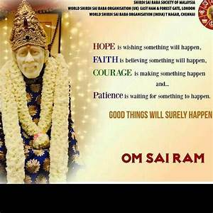 Now Baba Is Ins... Shirdi Sai Motivational Quotes