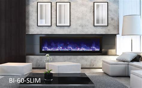 amantii electric fireplace panorama series bi  slim
