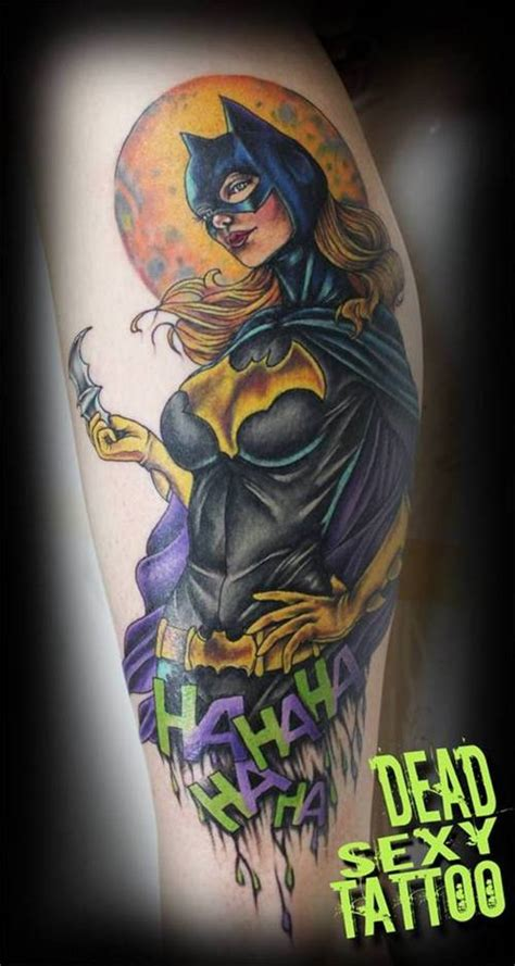 mind blowing batgirl logo tattoos