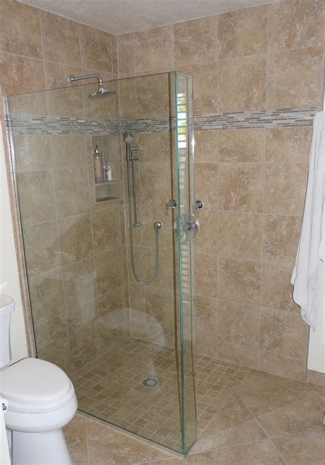 master bath remodel  curbless shower pan  frameless