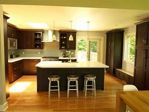 Open concept - Oversized island - Transitional - Kitchen