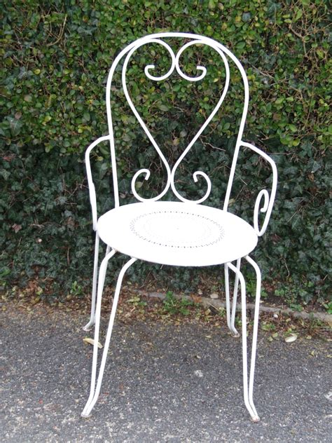 g075 s vintage wrought iron garden patio chair