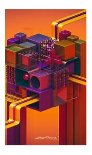 1920x1080 px 3d abstract Colorful cube digital art ...