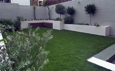 Artificial Grass Easi Grass Grey Painted Fences Modern