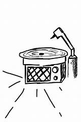 Record Player Drawing Doodle Clipartmag sketch template