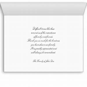 writing thank you notes for memorial donations examples With thank you letter for sympathy gifts