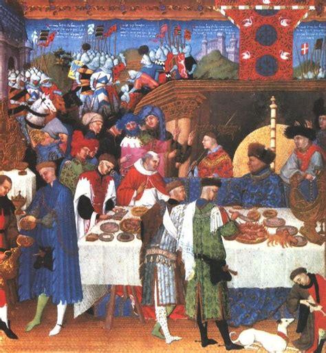 les banquets au moyen age les cagnes au moyen age histoire