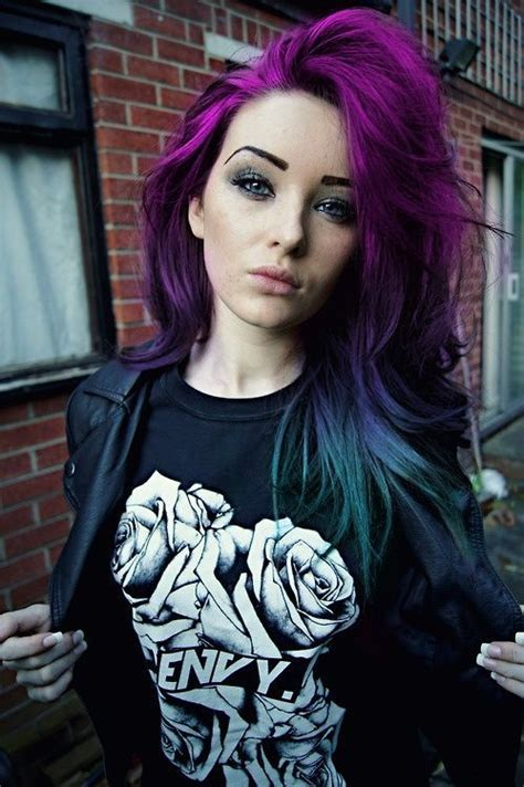 Scene Girl Purple To Blue Ombre Hair Beauty Tips N