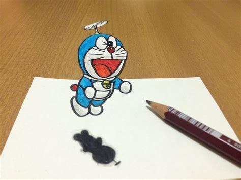 Tricks Art, 3d Doraemon Flying Drawing