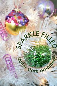 sparkle, filled, dollar, store, ornaments