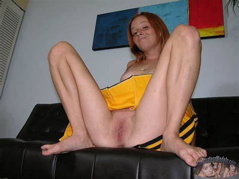Sweaty  Haired Freckles Young Cheerleader Interracial Two