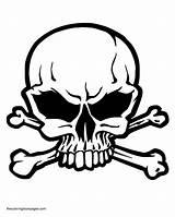 Skull Crossbones Coloring Pages Bones Getcoloringpages sketch template