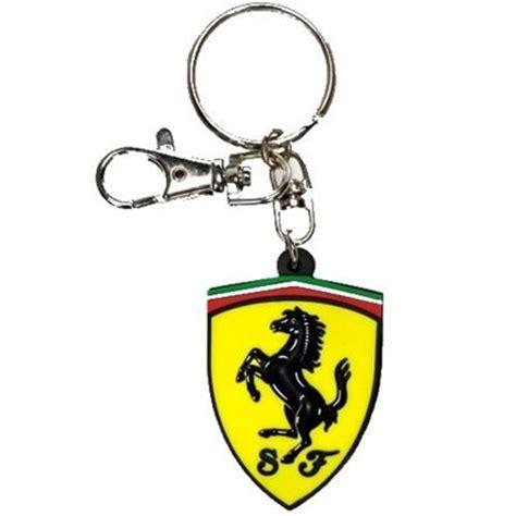 ferrari shield pvc keychain