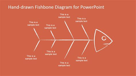 hand drawn fishbone diagrams template  powerpoint