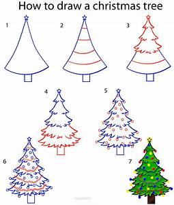 How to Draw a Christmas Tree Step by Step Drawing Tutorial ...