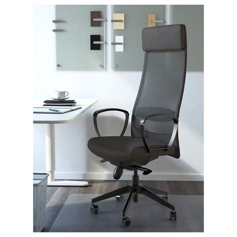 markus swivel chair vissle grey ikea