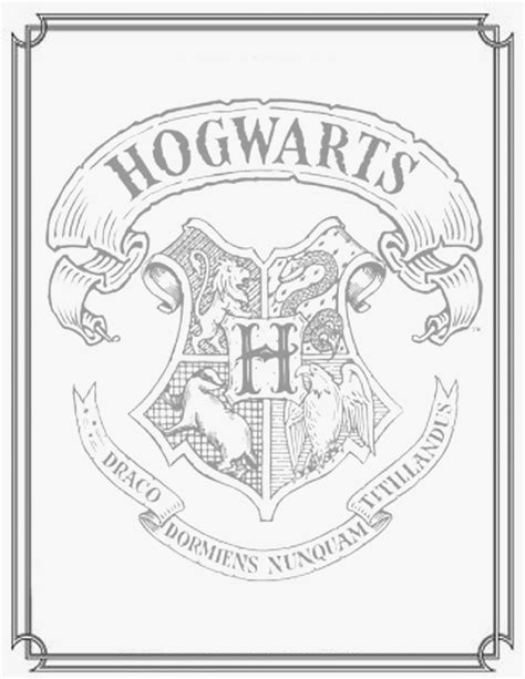 slytherin crest coloring coloring pages