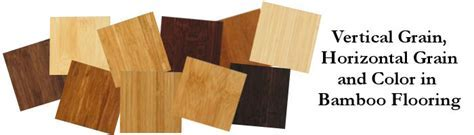 Vertical Grain, Horizontal Grain and Color in Bamboo Flooring