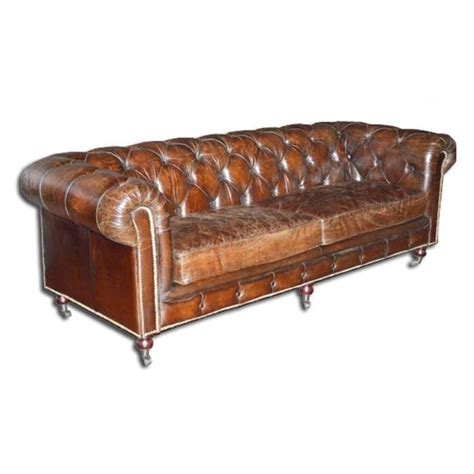 canapé chesterfield cuir vieilli canapé chesterfield marron cuir véritable vieilli achat