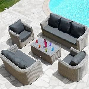 Salon Detente Jardin : salon de jardin giglio gris gris anthracite 7 places ~ Premium-room.com Idées de Décoration