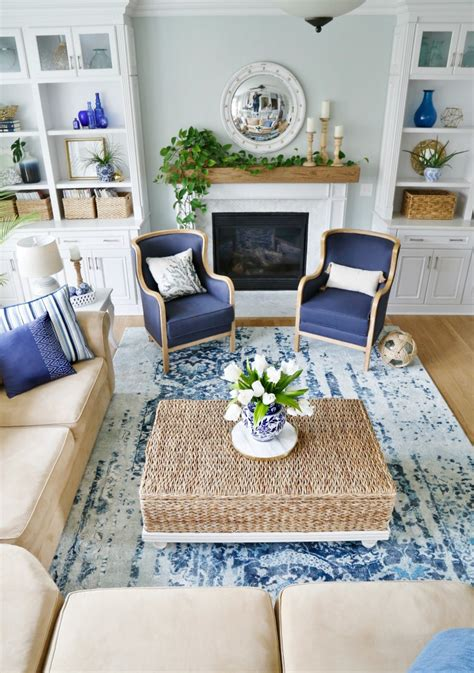 Home Blue And White by New Blue And White Living Room Updates Sand And Sisal