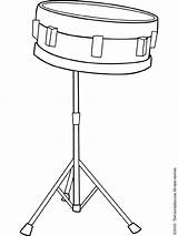 Drum Snare Coloring Clip Clipart Pages Colouring Gclipart Printable sketch template