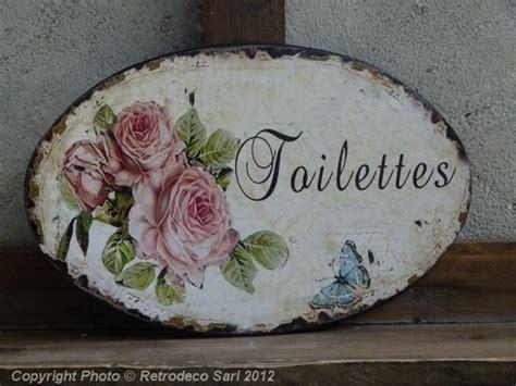 horloge cuisine plaque de porte toilettes roses antic line déco de