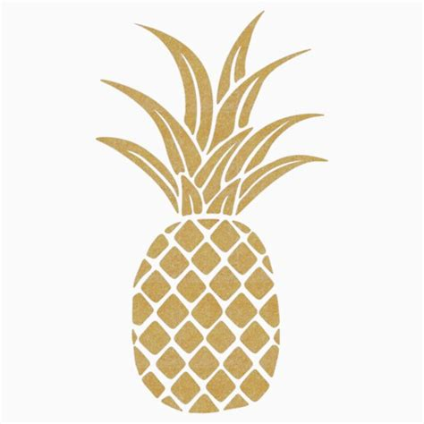 pineapple top silhouette vector pineapple gifts merchandise redbubble