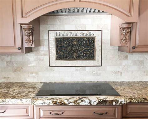 kitchen backsplash medallions kitchen backsplash plaques ravenna decorative tile medallion