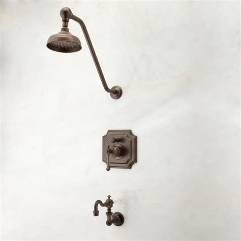 Faucet Set by Vintage Pressure Balance Tub And Shower Faucet Set With