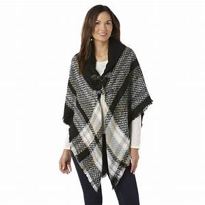 Women's Poncho Sweater - Abstract