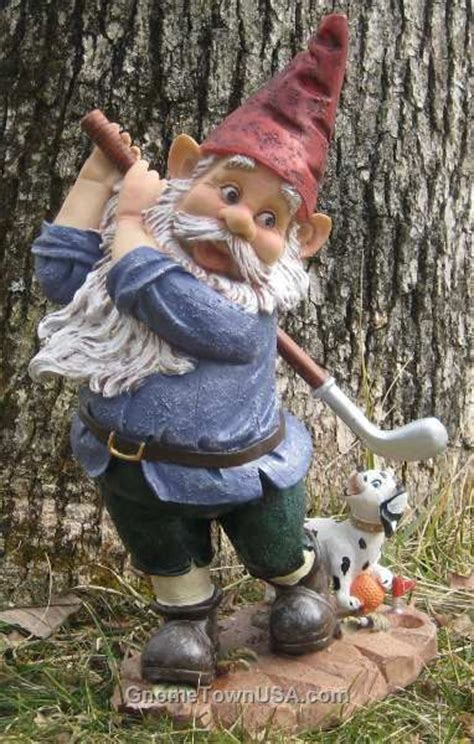golf statues home garden gnomes 15 quot golfy with faithful puppy
