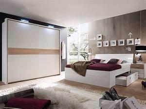 MILENA Komplett Schlafzimmer WeiEiche Sonoma