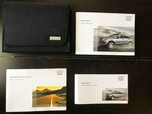 2009 Audi Q7 Owners Manual With Case Oem Free Shipping