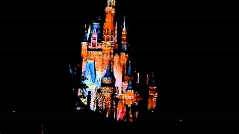 disney world light show disney world dec 2012 castle light show youtube