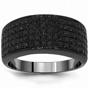 mens black diamond rings black diamond rings for men With male wedding rings black diamonds