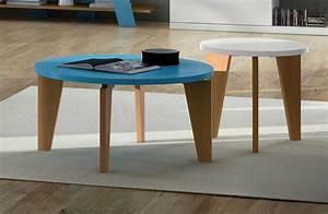 Table Basse Ronde Maison Du Monde : salon avec deux tables basses rondes ~ Teatrodelosmanantiales.com Idées de Décoration